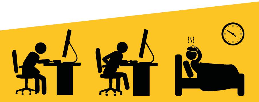 Verhoogd absenteïsme door fysieke inactiviteit op het werk